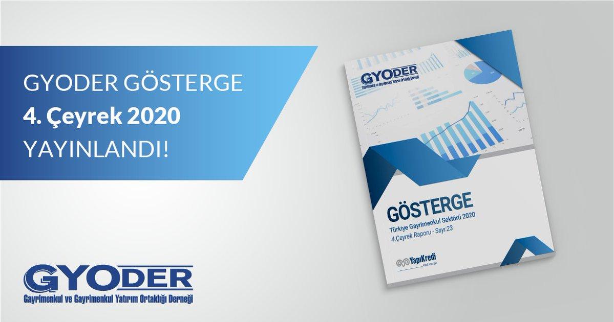 'GYODER Gösterge' Türkiye Gayrimenkul Sektörü 2020-4. Çeyrek Raporu yayınlandı