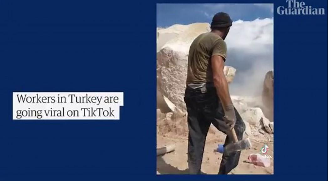 """The Guardian, Türkiye'nin TikTok fenomeni olan işçilerini mercek altına aldı; """"Zorlu çalışma koşullarına yönelik eleştiriyi görmemek zor"""""""